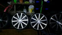 22 inch 5 lug universal rims with new tires nearly Kissimmee, 34746