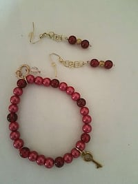 women's gold red beaded jewelry set Cleveland, 44119