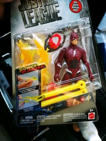 Justice league the flash action figure under water
