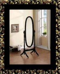 Black swivel oval mirror District Heights, 20747