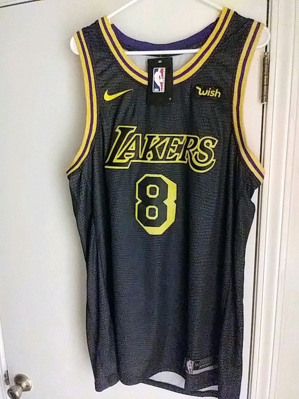 715f1cc5d87 Used L.A Lakers Jersey(NEW) BLACK MAMBA sz.54(x-large) for sale in ...