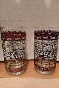 Vintage Coca Cola drinking glasses, 16oz. Forest Hill, 21050