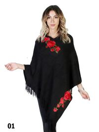Red flower poncho  Milton, L9T 6H6