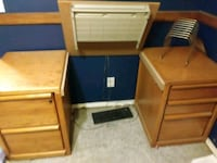 Solid oak office file cabinet which computer inser Moraine, 45439
