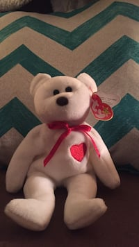 9c67b6902a2 Used Ty Valentino Bear Ty Beanie Baby-RARE for sale in Valparaiso ...