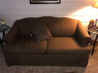 Brown fabric 2-seat sofa Round Rock, 78664