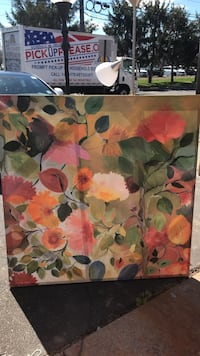 multicolored flowers painting