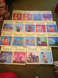 old sesame street books a complete set some has double copies $30 for all Mullens, 25882