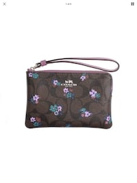 COACH Signature C Ranch Floral Wristlet Franklin, 30217