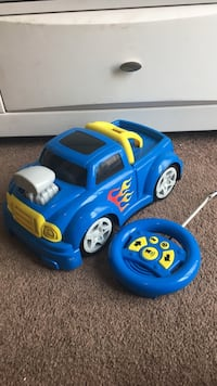 Children's blue truck toy