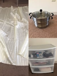 Bathroom curtains$5 steamer $25 holder $5 Newark, 19711