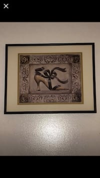 """Framed """"Victorian/French boutique"""" theme picture"""