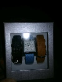 square analog watch with black, blue, and brown le Salt Lake City, 84116