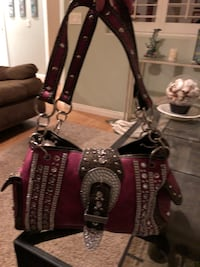 Pink leather and Rhinestone studded purse Temecula, 92592