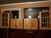 brown wooden cabinet with hutch Ferndale, 48220
