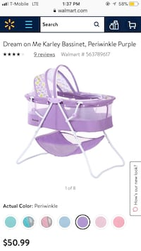 Pink and white bassinet screenshot Guilford, 06437