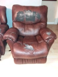 brown leather tufted sofa chair Denham Springs, 70726