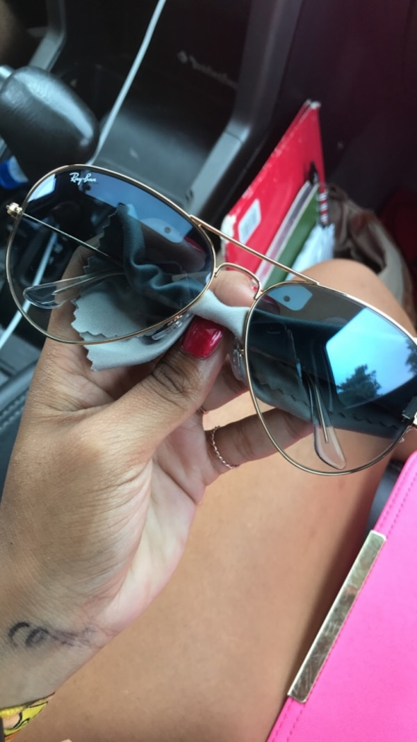 4117fecb9fd29 Used Blue-tinted Ray-Ban aviator sunglasses for sale in Overland Park -  letgo