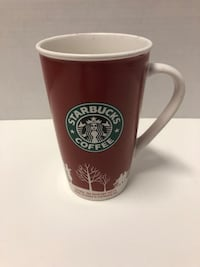 Starbucks 2006 Red White Christmas Holiday Ceramic Coffee Latte Mug Cup 16 oz Winnipeg, R2Y 2G4