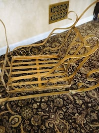 Decorative metal sled great for holidays! Awesome accent under tree!