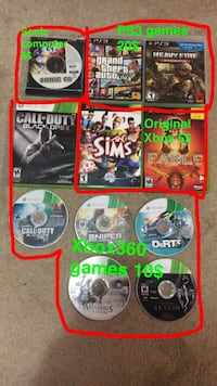 six assorted Xbox 360 game cases Chilliwack, V2R 0A4