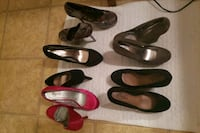four pairs of leather pumps Reno