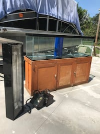 Glass 125 gallon fish tank with stand and lights Lake Worth, 33463