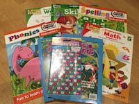 assorted titled of educational books
