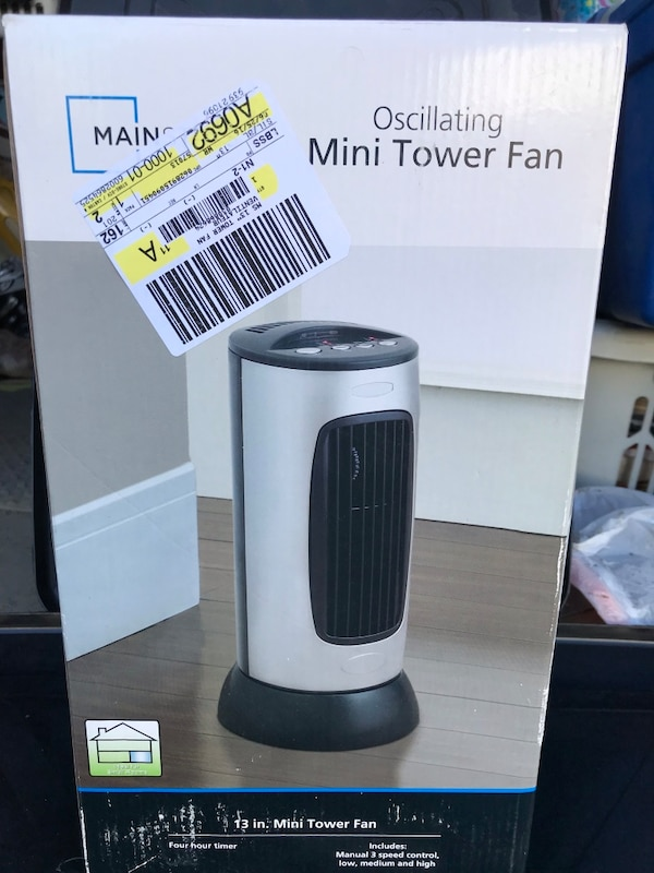 Black and gray mainstay oscillating fan