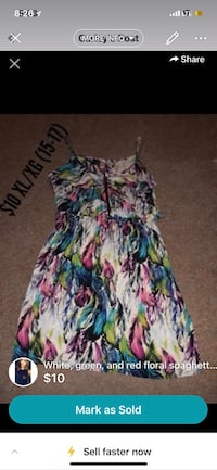 white, pink, and blue floral spaghetti strap dress Blue Springs, 64015