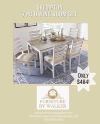 Skempton 7 piece dining room set by Ashely