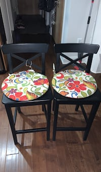 Pair of Bar Stools with Cushions
