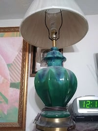 green and clear glass table lamp Miami