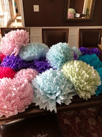 Large colorful paper flowers  Potomac, 20854