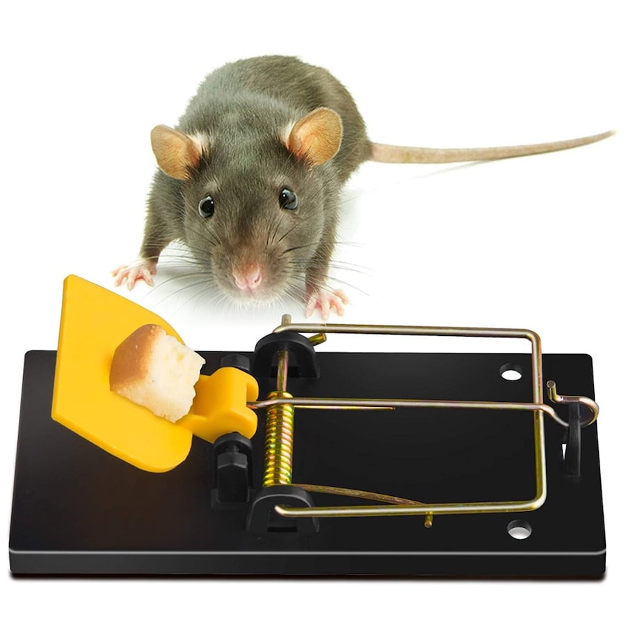 Mouse Trap, Snap Traps That Work Power Mouse Killer, Sensitive and Reusable Outdoor Rodent Control (4 Pack)