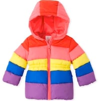 Multi colored winter bubble coat-5T Birmingham, 35235