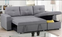 gray suede sectional sofa with ottoman Toronto, M5A 0K7