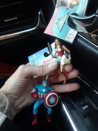 Wonder Woman and Captain America toys