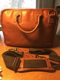 Leather briefcase by Will Leather Goods.