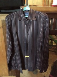 Brown Faconnable Long sleeve button down shirt
