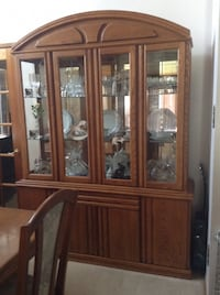 brown wooden framed glass display cabinet 3147 km