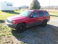 red Jeep Grand Cherokee SUV null
