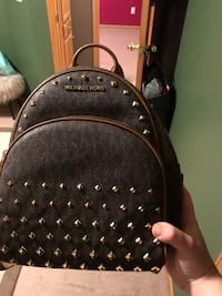 black and brown leather backpack 891 mi