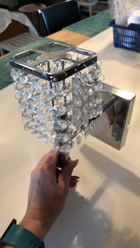 Chrome wall sconce light  Surrey, V4N 0B3