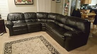 black leather sectional sofa with ottoman Citrus Heights, 95621