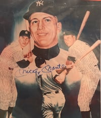 Signed Mickey Mantle tribute photo