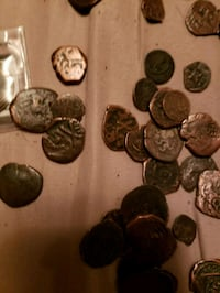 Spanish copper coins from the 1400s up
