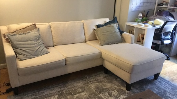 Beige couch sectional
