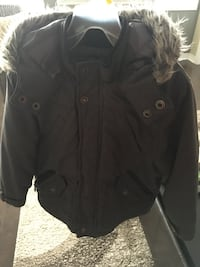 Black button-up jacket..