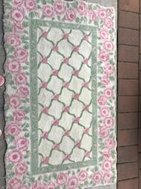 white, pink, and green floral textile Lyndhurst, 07071